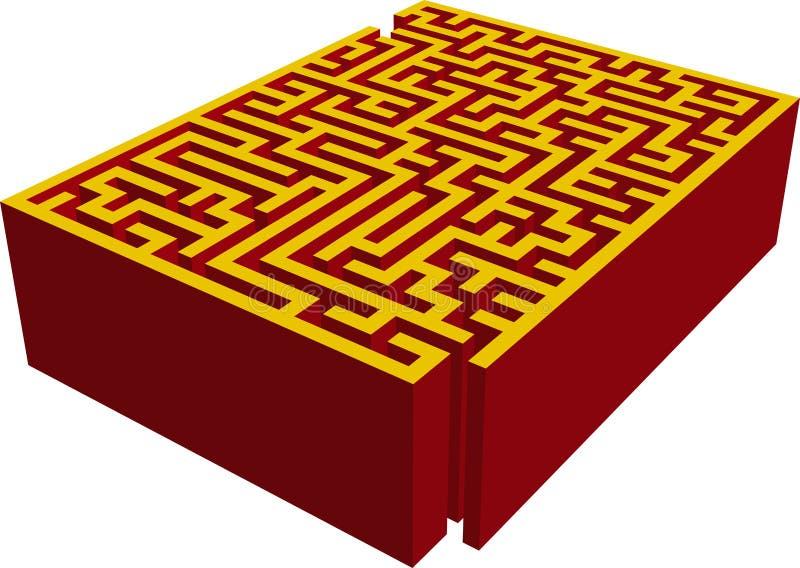3d迷宫 库存例证
