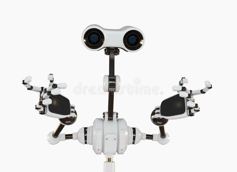 3d逗人喜爱的未来派图象机器人 向量例证