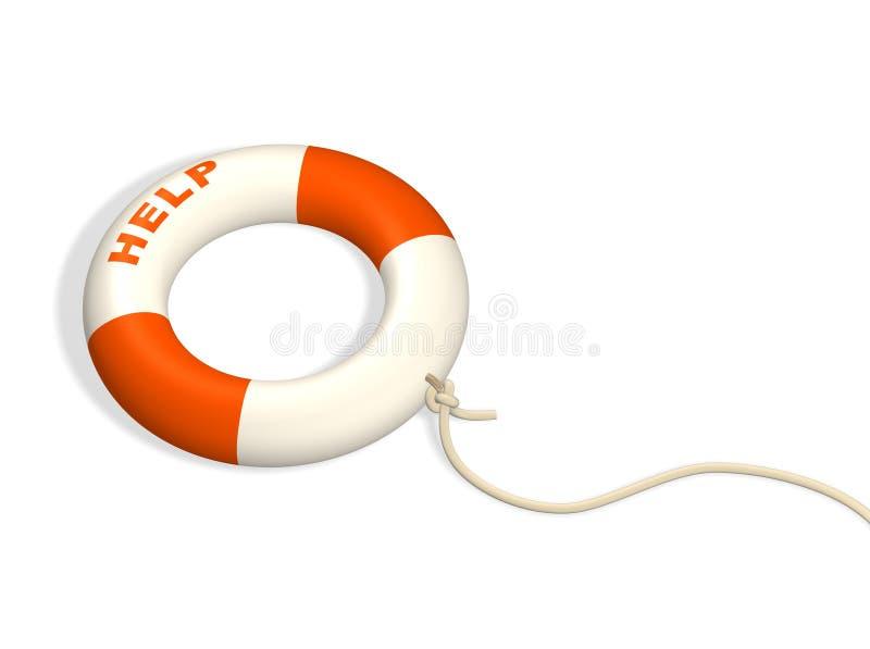3d遵守了绳子lifebuoy环形 向量例证