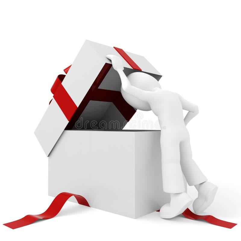 3d配件箱人存在 皇族释放例证