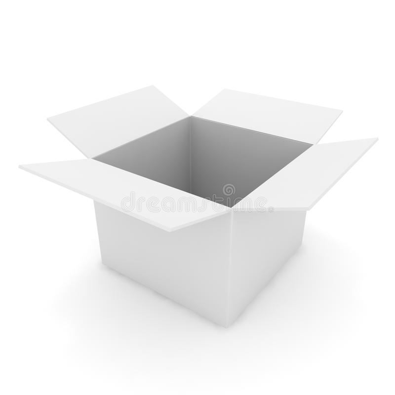 3d配件箱被开张的白色 向量例证