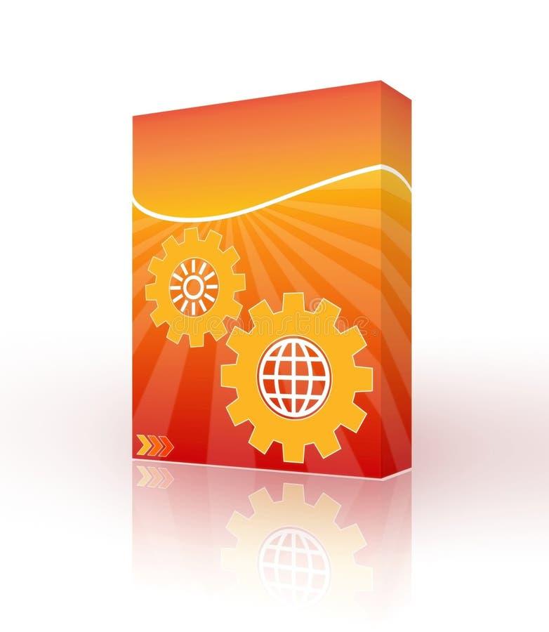 3d配件箱设计桔子 向量例证