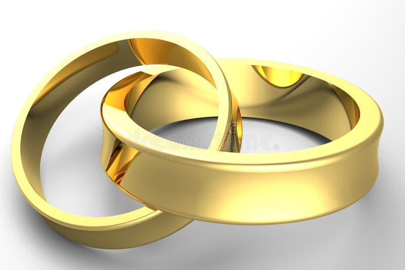 3d金子婚礼 皇族释放例证