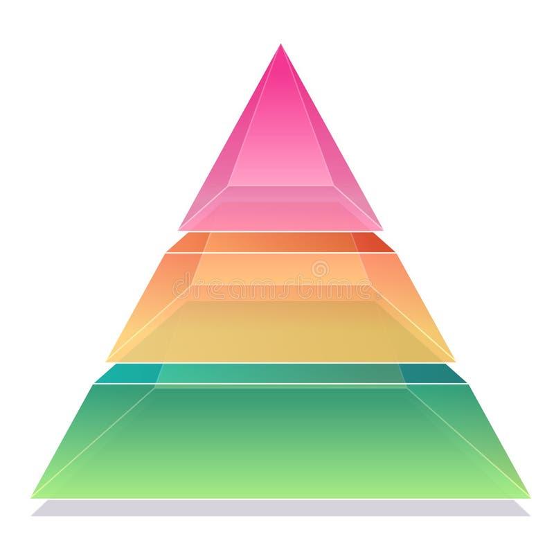 3d金字塔 向量例证