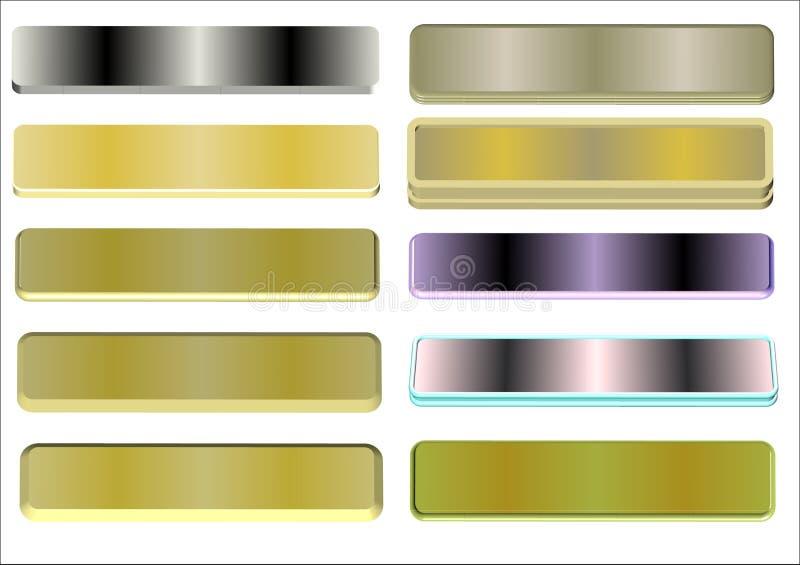 3d金属名牌 向量例证