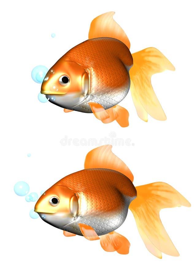 3D金鱼 向量例证