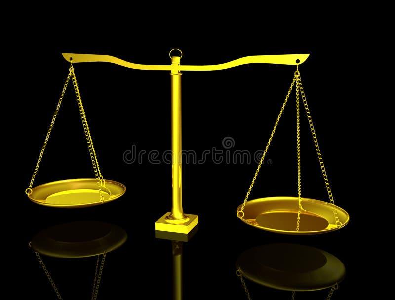 3d金黄的平衡 向量例证