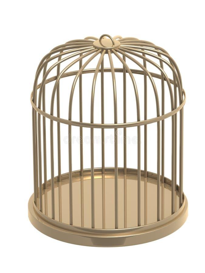 3d金黄的笼子 皇族释放例证