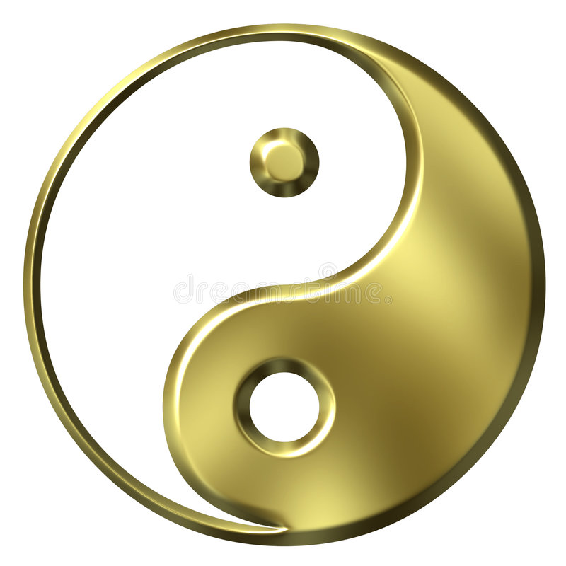 3d金黄符号陶 向量例证
