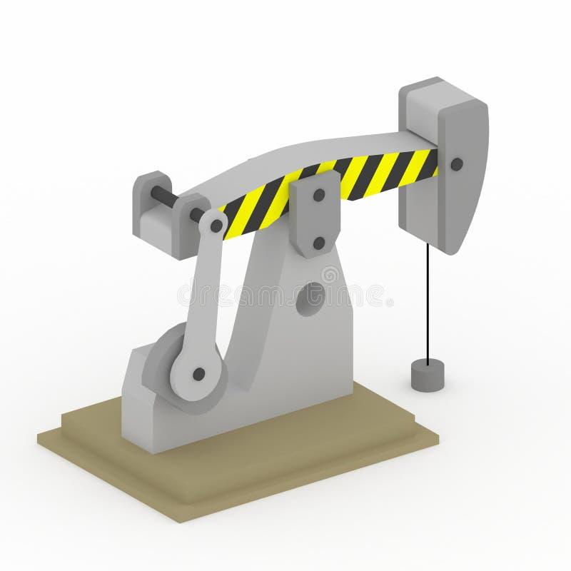 3d钻工油 向量例证