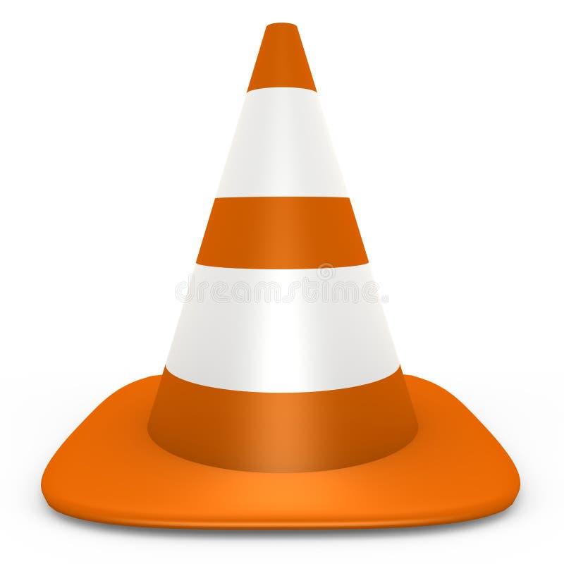 3d锥体图象查出的橙色业务量 皇族释放例证