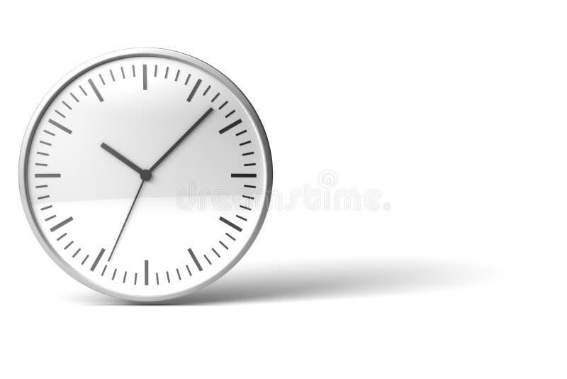 3d镀铬物时钟图标 库存例证