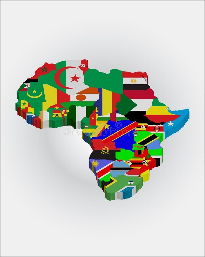 3d非洲人大陆 向量例证
