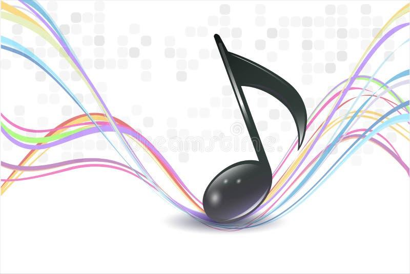 3d音乐附注 库存例证