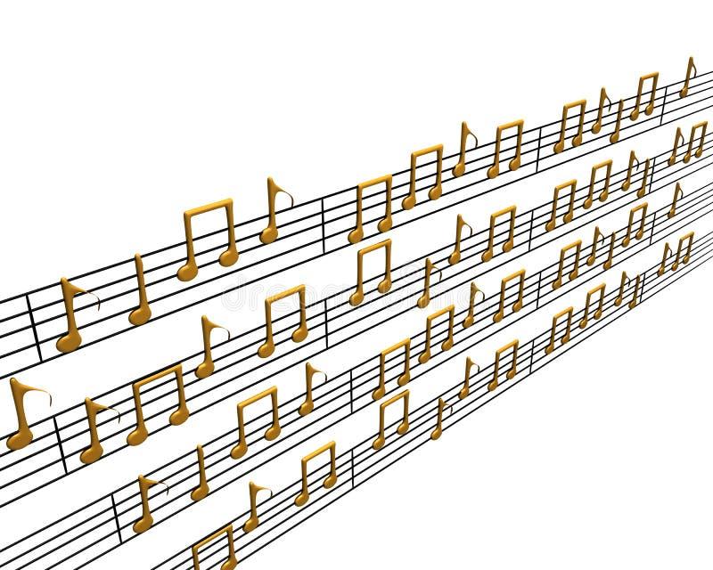 3d音乐 向量例证