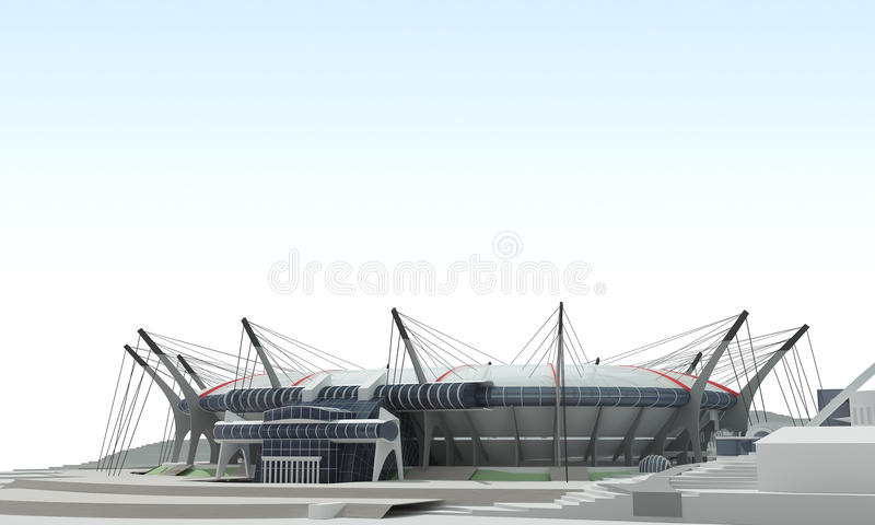 3d项目体育场 向量例证