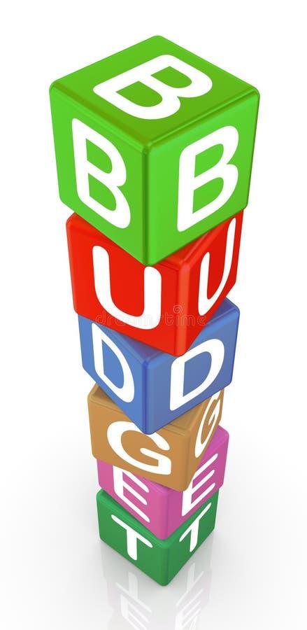 3d预算值求文本的立方 库存例证