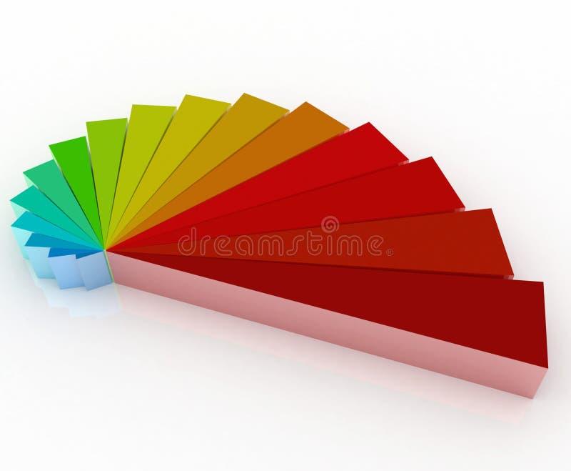 3d颜色徽标 向量例证