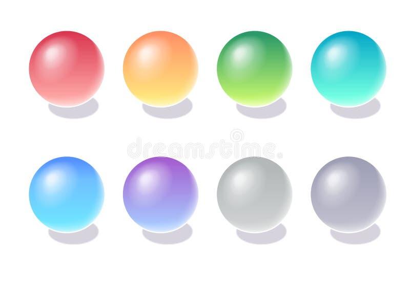 3d颜色范围向量 库存例证
