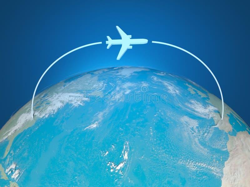 3d飞机映射途径世界 皇族释放例证
