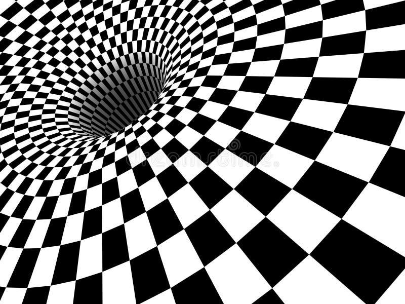 3d黑洞漩涡 库存例证