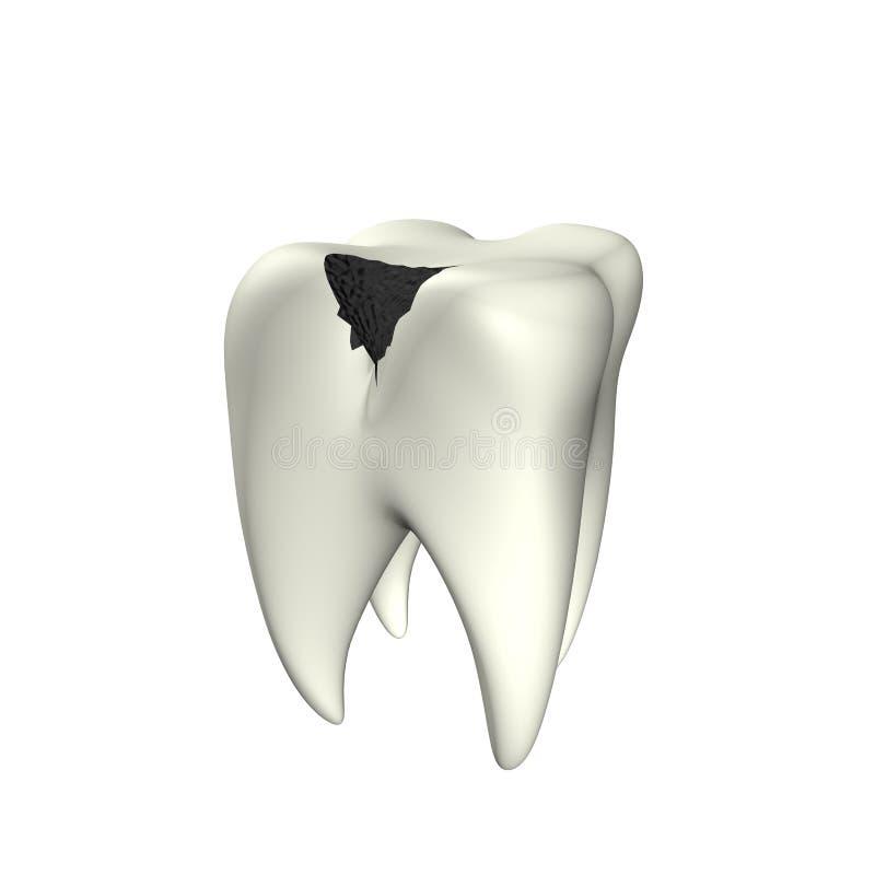 3d龋牙 向量例证