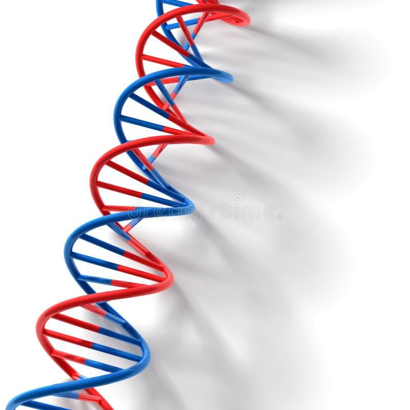 3D übertragen Bitübersicht - DNA-Baumuster stock abbildung
