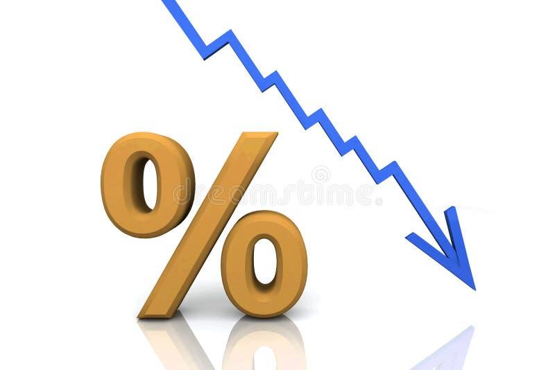 3D übertragen Prozentsatz-Zeichen stock abbildung