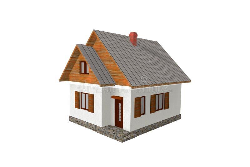 3D übertragen traditionelles Haus lizenzfreie abbildung