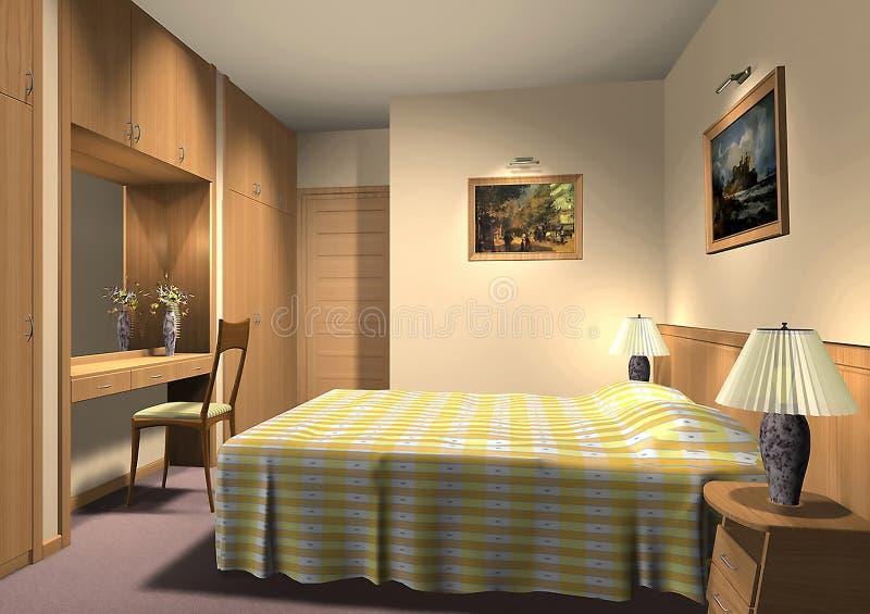 3D übertragen vom Hotelzimmer vektor abbildung