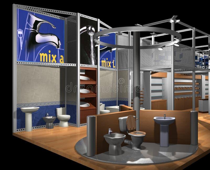 3D übertragen von der Ausstellunghalle stock abbildung