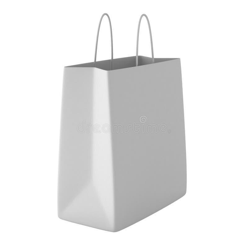 3d übertragen von der weißen Einkaufstasche lizenzfreie abbildung