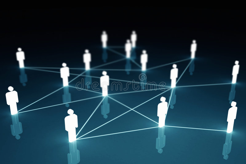 3d łączący ludzie ilustracji