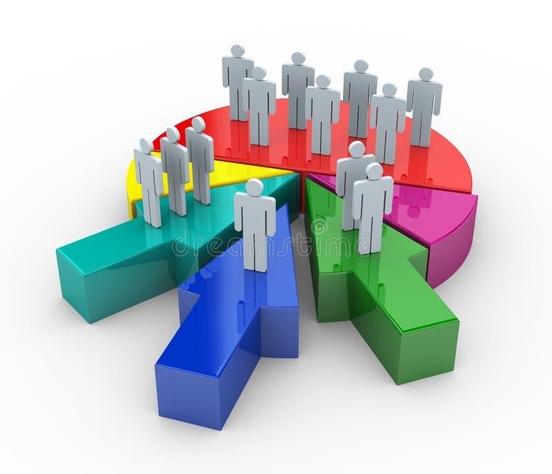 3d łączenia biznesowy pojęcie ilustracja wektor