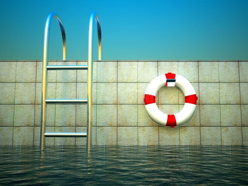 3d życia basenu pierścionku dopłynięcie ilustracji