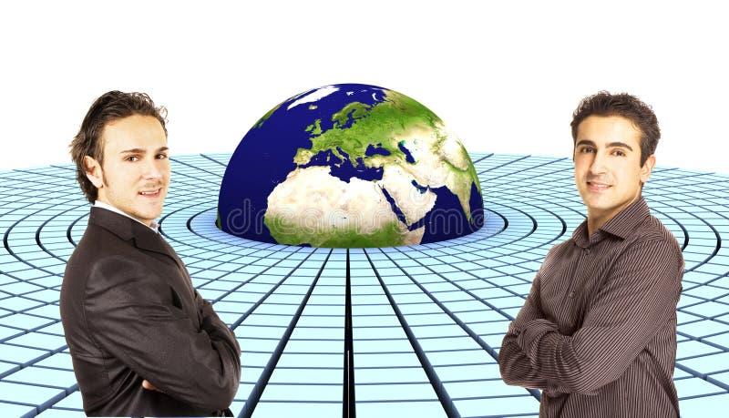 3d земля европа стоковое изображение