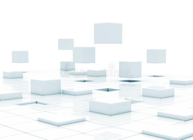 3d кубики - строить дело иллюстрация штока