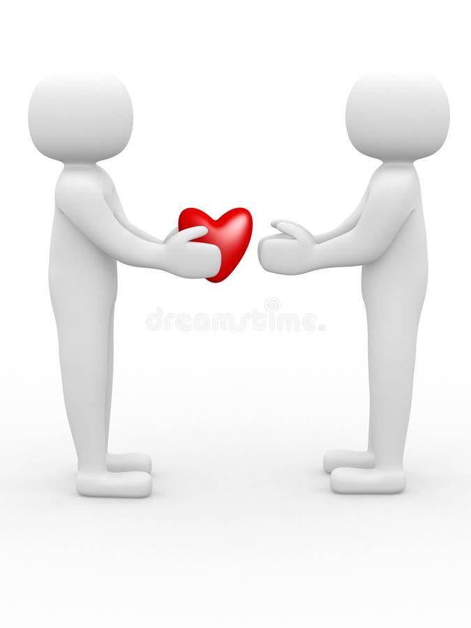 3d люди - принципиальная схема влюбленности бесплатная иллюстрация