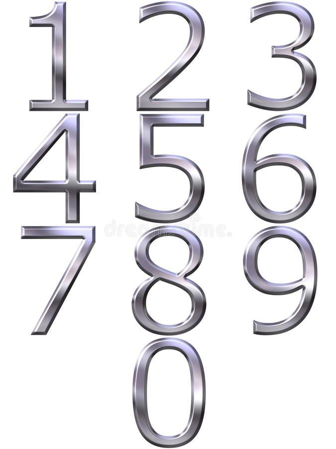 3d нумерует серебр бесплатная иллюстрация