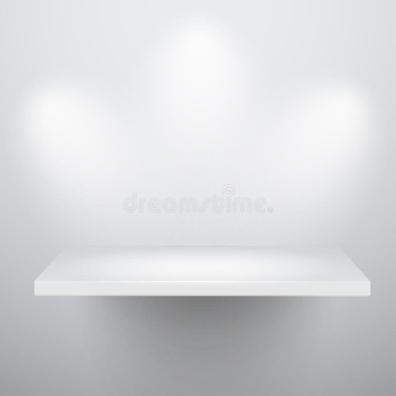 3d опорожняют полку изолированную экспонатом иллюстрация штока