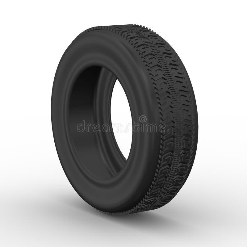 3d покрышка - колесо автомобиля иллюстрация вектора