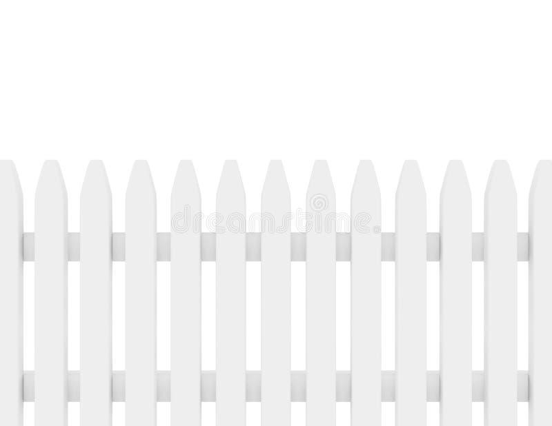 3d представляют белой загородки пикетчика иллюстрация вектора