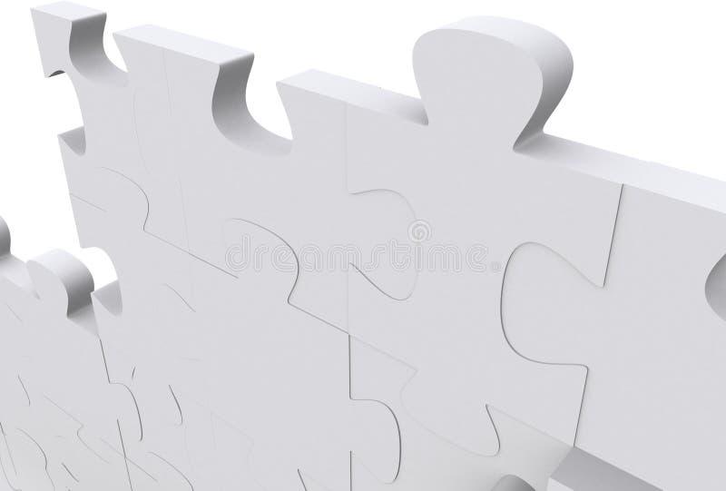 3d соединяет головоломку иллюстрация штока