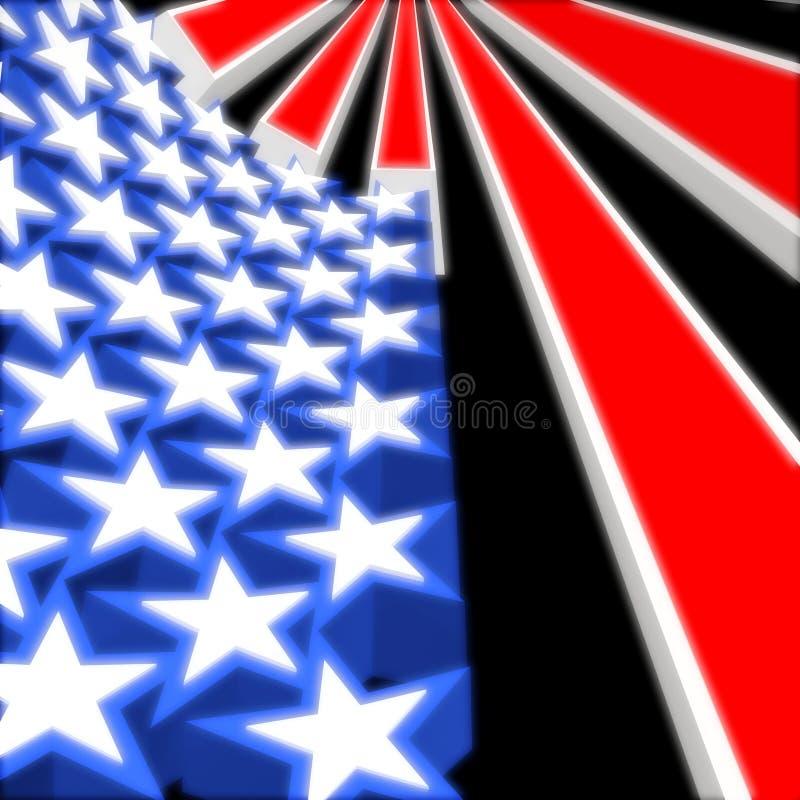 3d флаг США иллюстрация вектора