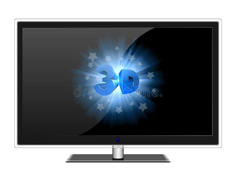 3d экран tv широко бесплатная иллюстрация