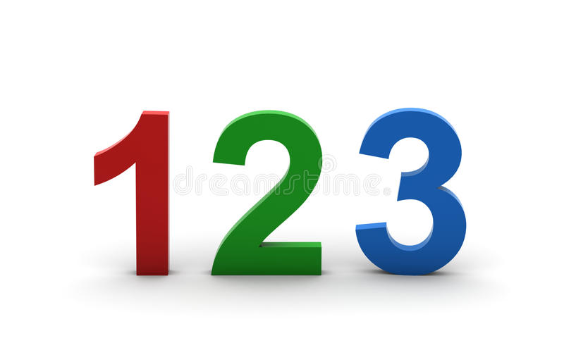 Download 3D 123 stock illustration. Image of count, counter, first - 10113100