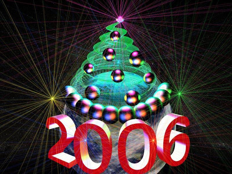 3D-2006 viering vector illustratie