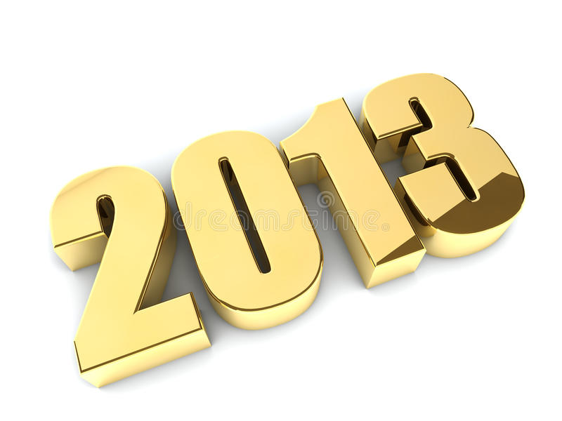 Download 3D 2013 Year Golden Figures Royalty Free Stock Images - Image: 25520099