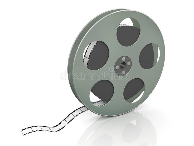 3d 36mm movie reel vector illustration