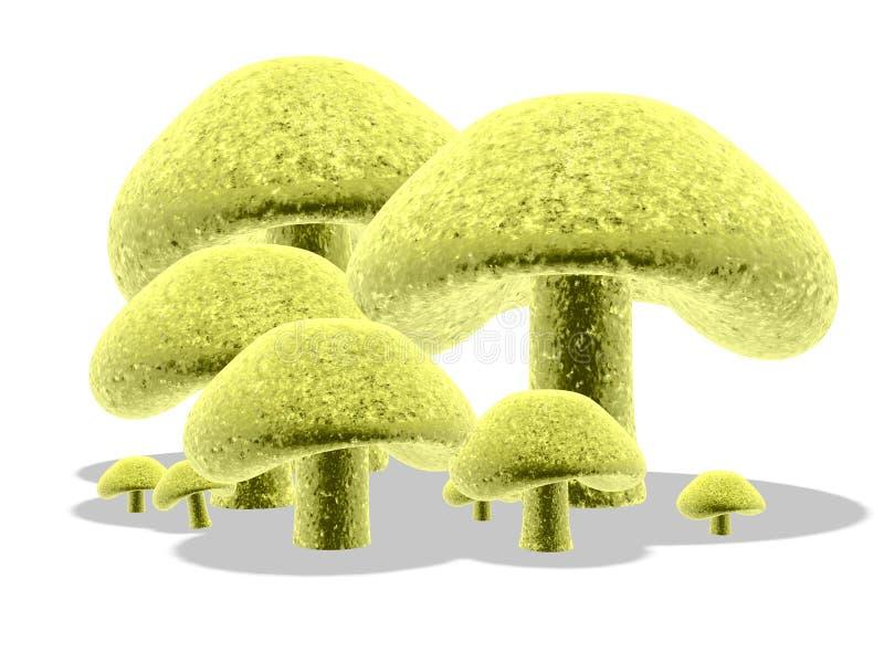 Download 3d 4蘑菇 库存例证. 图片 包括有 本质, 工厂, 玻色子, 蘑菇, 真菌, 数字式, 回报, 设计, 黄色 - 300545